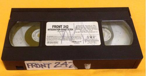 front 242 - integration eight x ten vhs raro industrial ebm