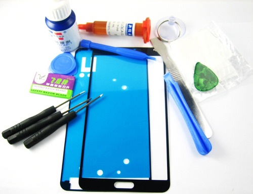 front glass +glue+tools samsung galaxy note 3 n9000~black