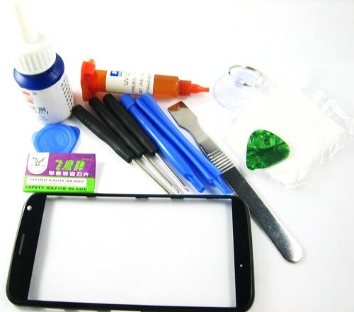 front glass screen+glue+full tools set+frame moto x~black