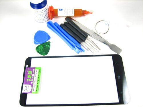 front glass screen+glue+full tools set nokia lumia 1320