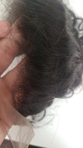 front lace humana closure de orelha a orelha - ondulado