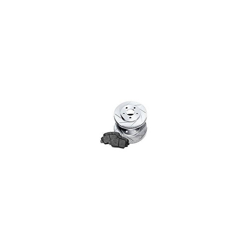 [front] rotores de freno ranurados powersport y almohadillas