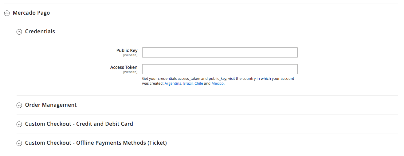 Mercado Pago Custom Checkout Configuration