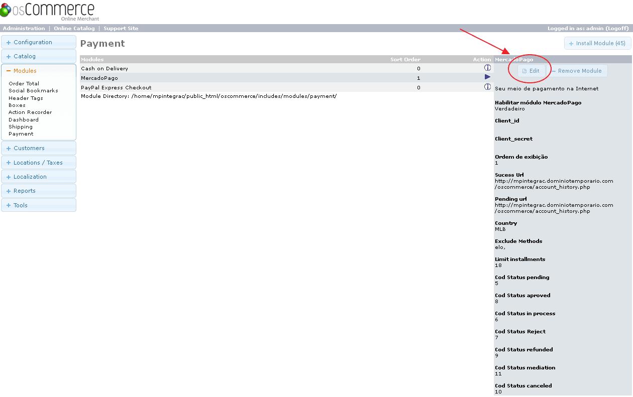 Payment Method List
