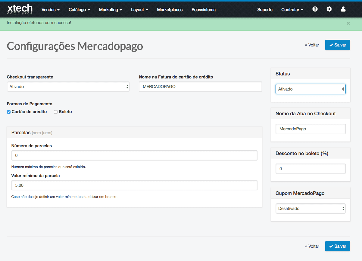 Understanding Xtech Configuration Page