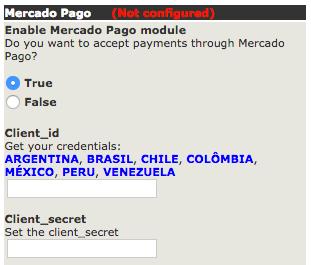 Setting client id and client secret