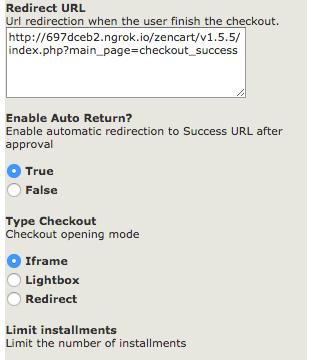 Checkout type setting