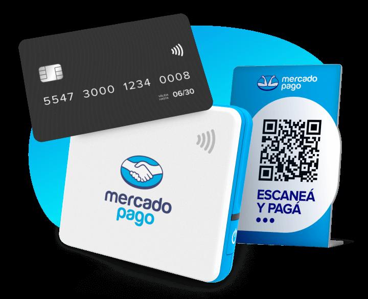 Lector de tarjetas Point Mini con símbolo de pagos sin contacto (o contactless) y tarjeta negra apoyada al lector.