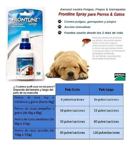 frontline spray liquido 100 ml anti pulga para perro y gato