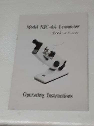 frontofocometro lensometro lectura interna (nuevo sin uso)