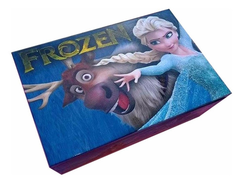 frozen caja personalizada de madera mediana