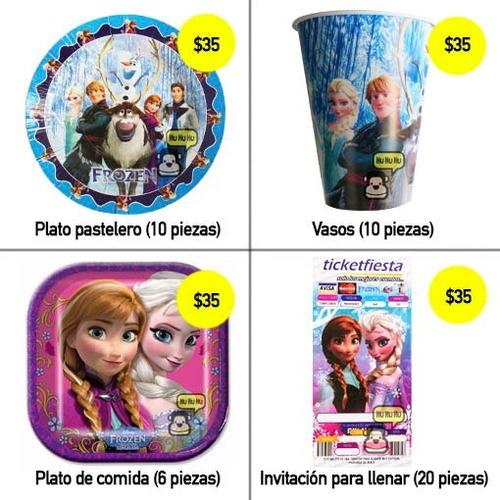 frozen - dulceros, desechables, vasos, fiesta!