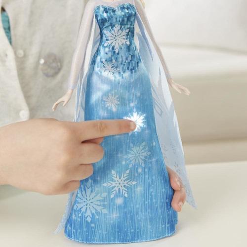 frozen elsa vestido musical hasbro luces sonido 6 pagos