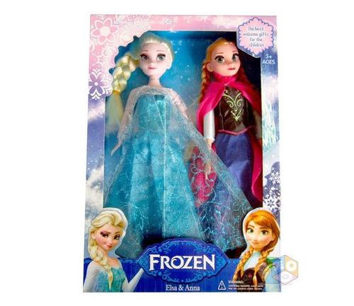 frozen elsa y ana set x2 muñecas 30 cm con musica y luz