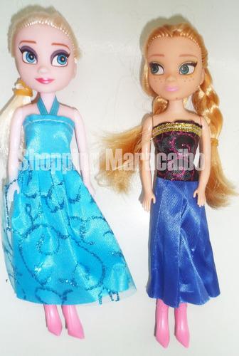 frozen elsa y anna muñecas de 17 cm de buena calidad