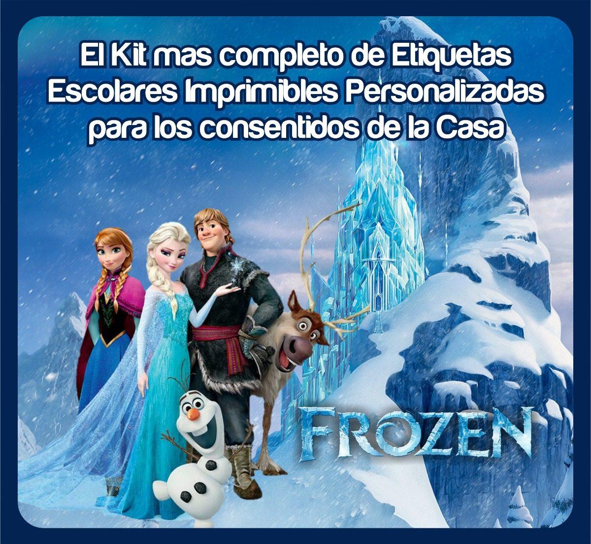 Frozen Etiquetas Escolares Imprimibles Kit Completo - Bs. 3,00 en ...