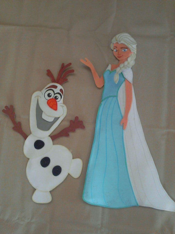 Frozen Figuras En Foami Para Decorar Bs 2 40 En