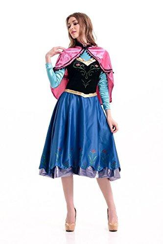 frozen inspirado traje adulto anna vestido de invierno de h