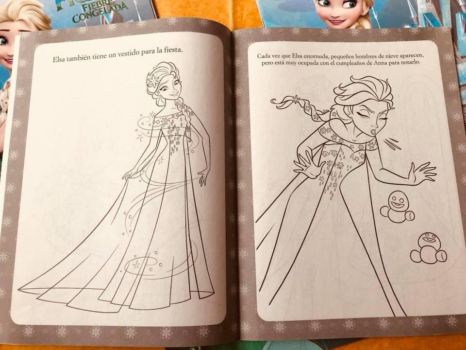 Frozen Libro Colorear 10 + 10 Cajas De 6 Crayones - $ 100.00 en ...