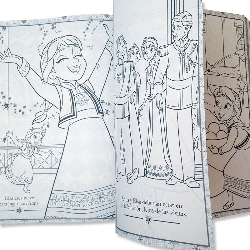 Frozen Libro Para Colorear Iluminar Disney Original 192 Pag ...