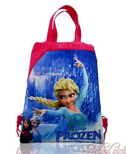 frozen morral, estilo mochila y bolsa frozen.