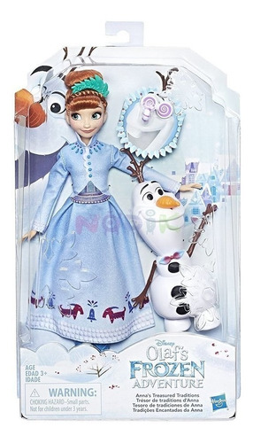 frozen muñeca aventura de olaf anna hasbro c3381-a