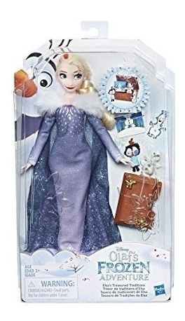 frozen muñeca aventura de olaf elsa hasbro c3381-e