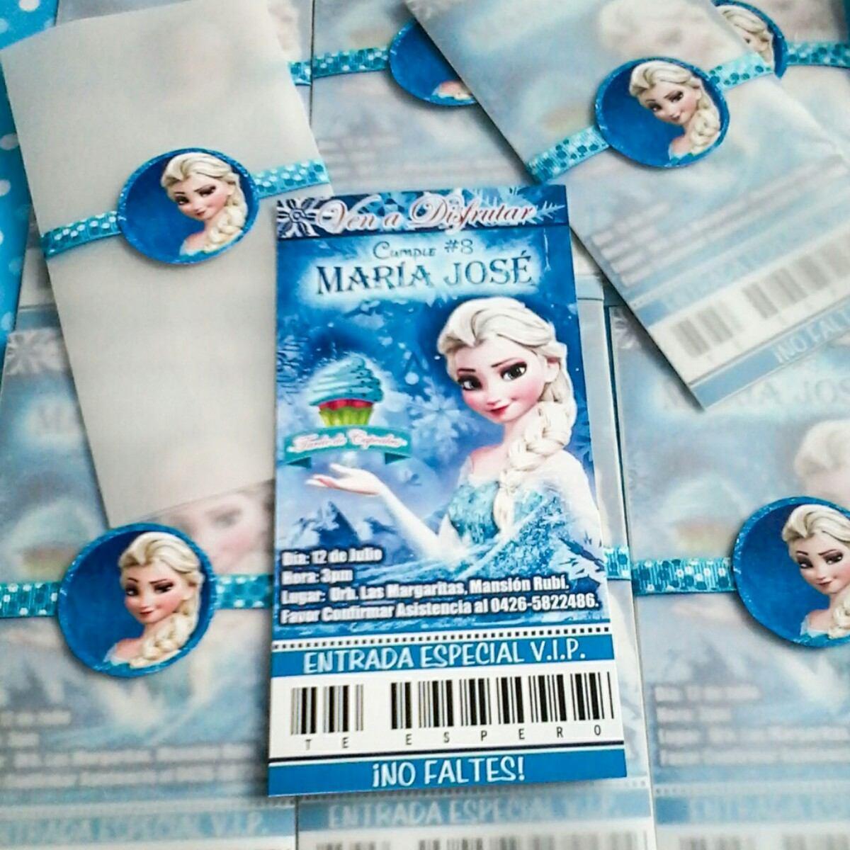 Frozen Tarjeta De Invitación Personalizada