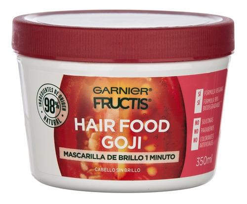 fructis hairfood máscara de brillo cabello opaco 350ml