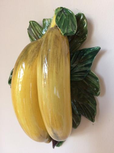 fruta banana cambur decorativa adorno para guindar en pared
