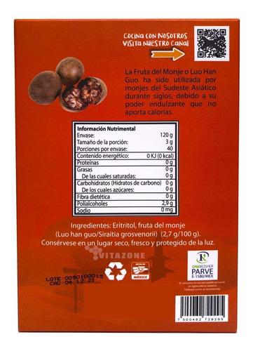 fruta del monje sustituto de azúcar 40 sobres