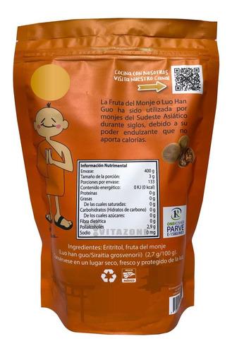 fruta del monje sustituto de azúcar 400 gr