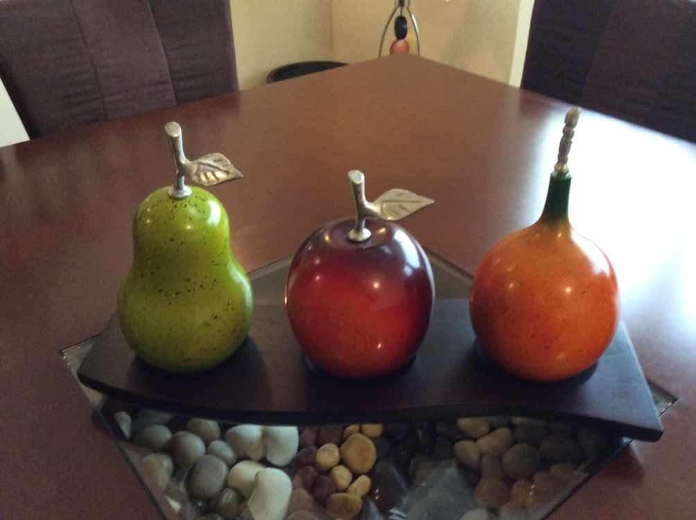 Frutas de madera centro de mesa para comedor bs 45 - Centros de mesa de comedor ...