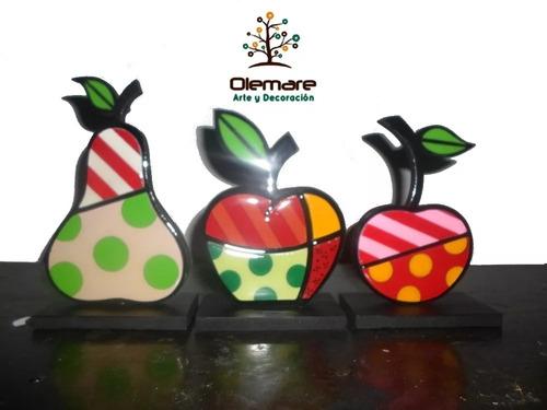 frutas decorativas britto con acabado de vidrio hogar cocina
