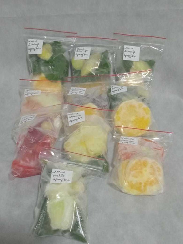 frutas e verduras higienizadas