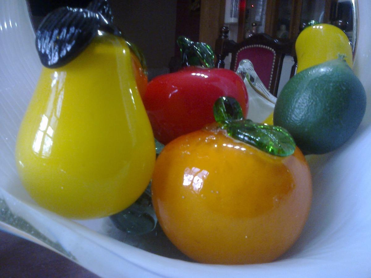 Frutas En Cristal De Murano Impecable Estado Son 5 45000 en