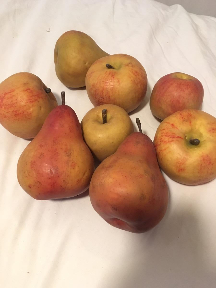 Frutas Manzana Pera Plásticas Para Decoración Mesa Cocina - Bs ...