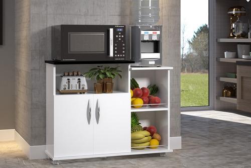 fruteira armário suporte microondas área de serviço cozinha