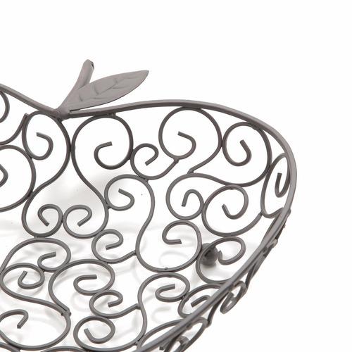 fruteira centro de mesa maçã cozinha ferro fundido 30279