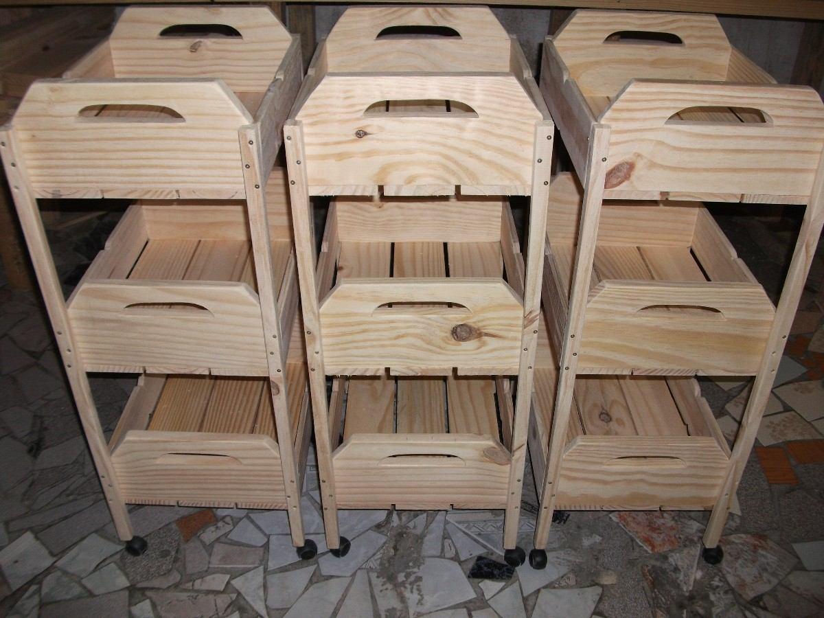 Fruteira De Caixotes  1001 Utilidades.(madeira)com Rodizios R$ 149  #866445 1200x900