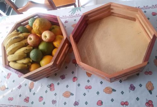 fruteira fruta de mesa feito com madeira de lei linda