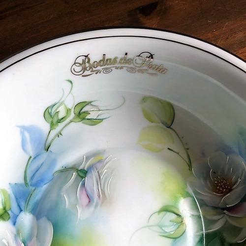 fruteira pintada a mão bodas de prata 25 anos - p302