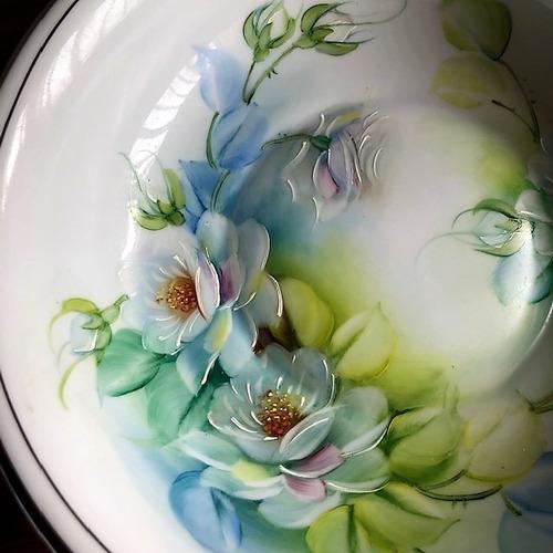 fruteira pintada a mão bodas de prata - p302