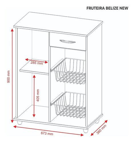 frutera belize organizador microondas horno eléctrico