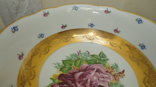 frutera centro mesa porcelana bavaria antigua finisima veala