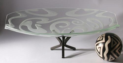 frutero centro de mesa tazon cristal moderno diseño abstract