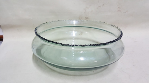 frutero en vidrio importado transparente grande