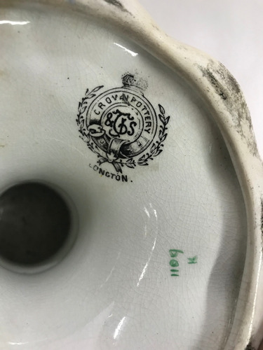 frutero porcelana marca crovan pottery, longton