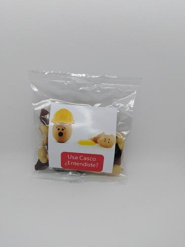 frutos secos publicitarios con logo snack saludable