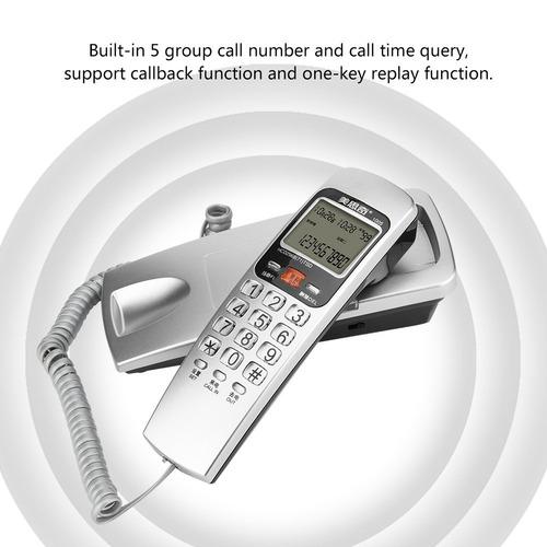 fsk / dtmf identificación de llamadas de teléfono con cable